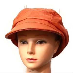 Wilsons quilted leather night porter newsboy cap
